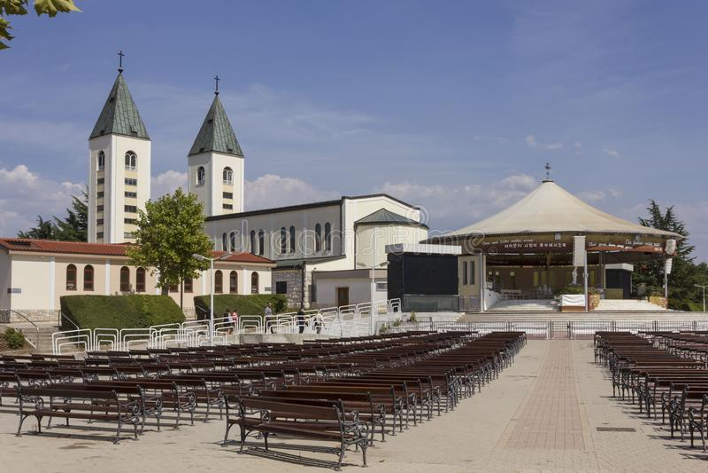 Święte miejsce Medjugorje w lato sezonie zdjęcie royalty free
