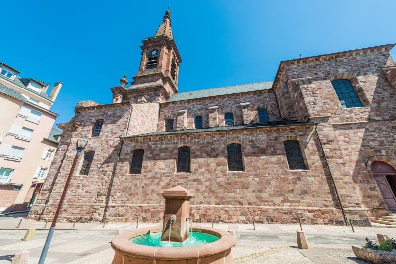 Świętego Amans kościół w Rodez, Francja zdjęcie royalty free
