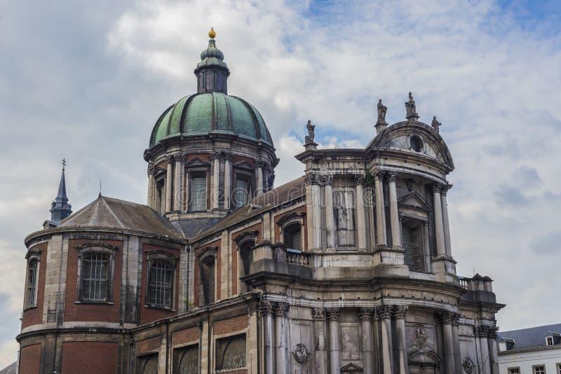 Świętego Aubin katedra w Namur, Belgia fotografia stock