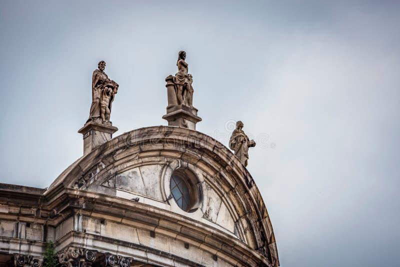 Świętego Aubin katedra w Namur, Belgia zdjęcie royalty free
