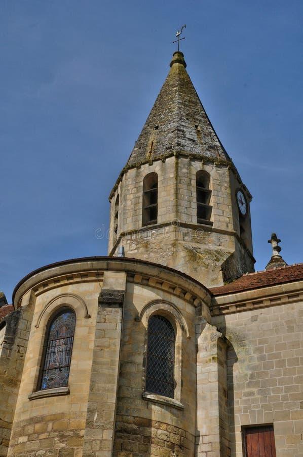 Świętego Denis kościół Brueil en Vexin obraz stock