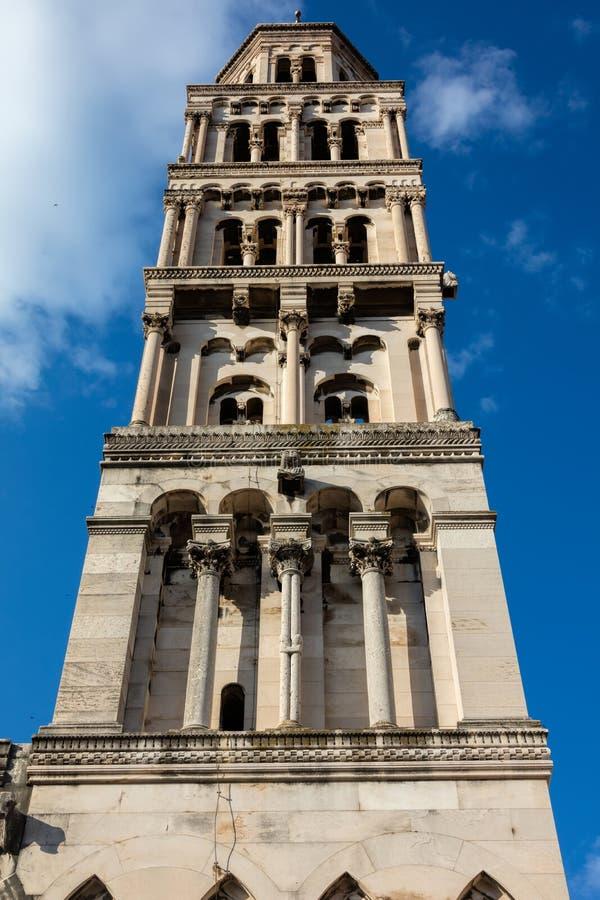 Świętego Domnius katedra w rozłamu, Chorwacja fotografia royalty free
