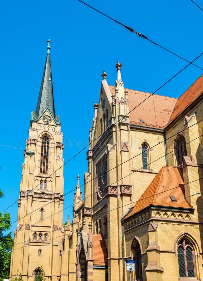Świętego ducha kościół w Mannheim zdjęcia royalty free