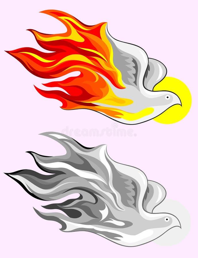 Świętego ducha ogień ilustracja wektor