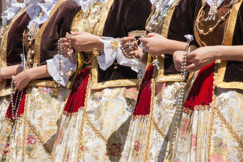 Świętego Efisio parada zdjęcia stock