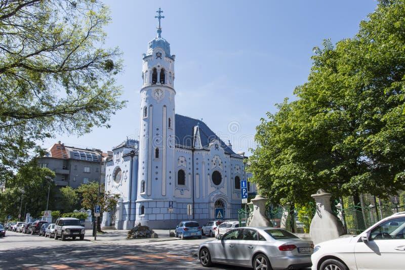 Świętego Elisabeth kościół w Bratislava zdjęcia royalty free