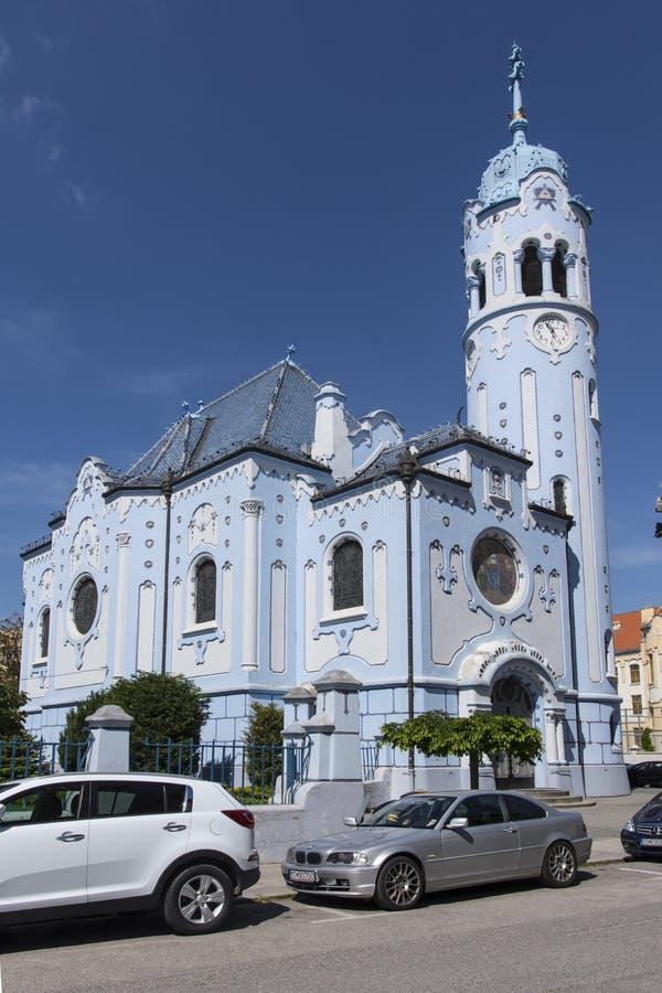 Świętego Elisabeth kościół w Bratislava obrazy royalty free