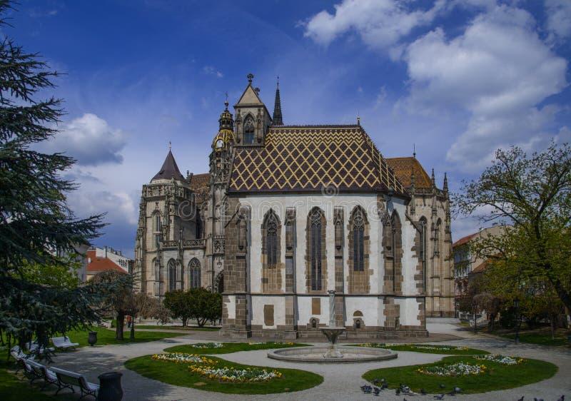 Świętego Elisabeth ` s katedra w Kosice zdjęcie royalty free