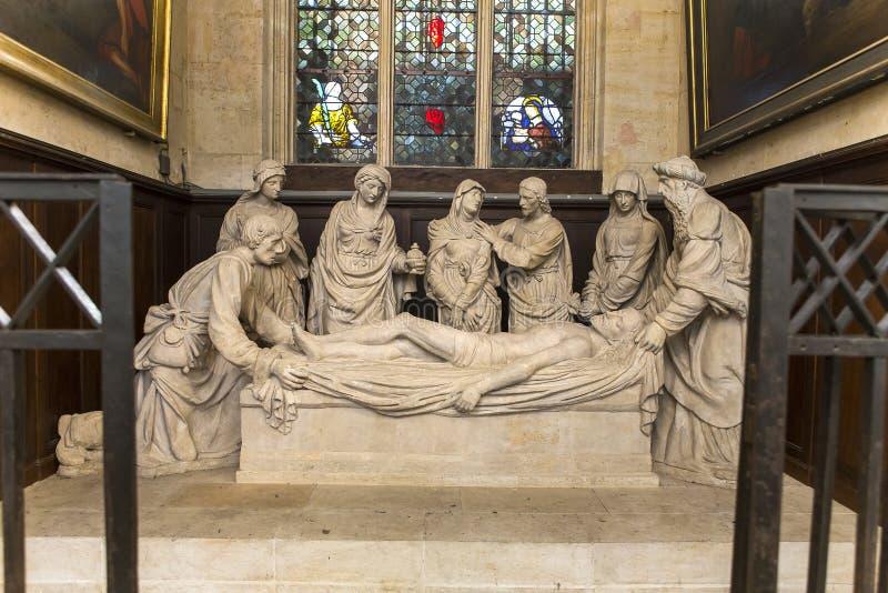 Świętego Etienne Du Mont kościół, Paryż, Francja zdjęcia stock