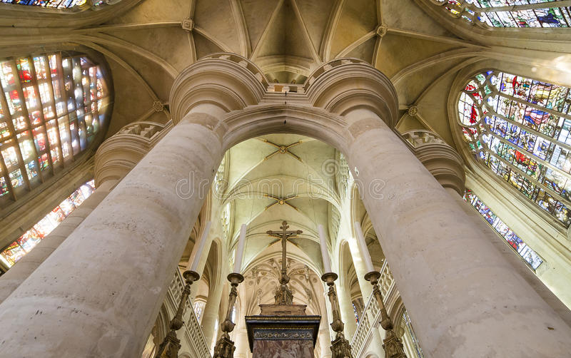 Świętego Etienne Du Mont kościół, Paryż, Francja obraz royalty free