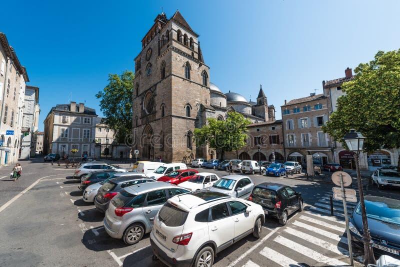 Świętego Etienne katolik w Cahors, Francja zdjęcie stock