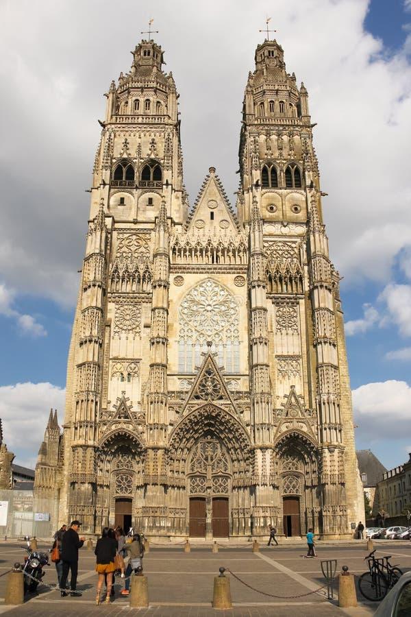 Świętego Gatien katedra tours Francja zdjęcie royalty free
