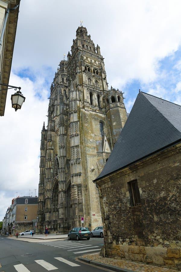 Świętego Gatien katedra wycieczki turysyczne fotografia stock