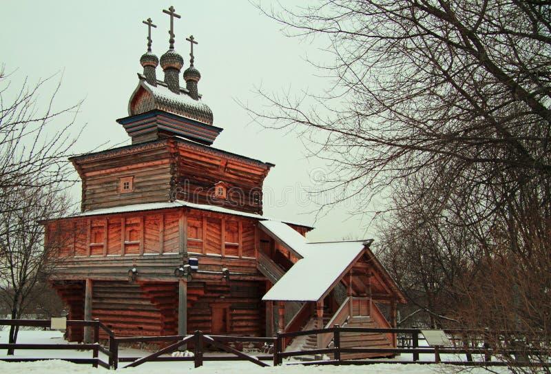 Świętego George kościół w poprzedniej królewskiej nieruchomości Kolomenskoye zdjęcie royalty free