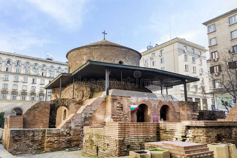Świętego George kościół w Sofia, Bułgaria rotunda fotografia stock