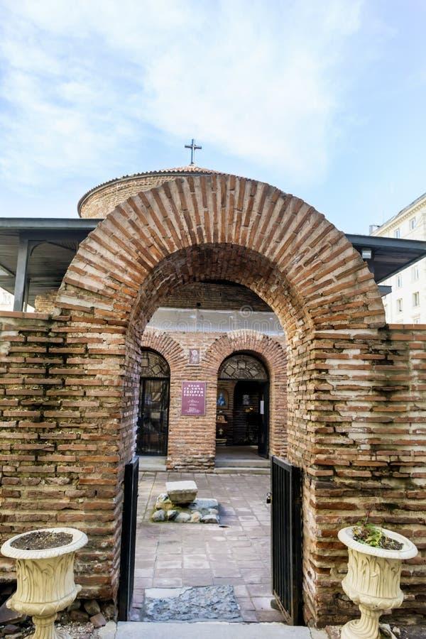 Świętego George kościół w Sofia, Bułgaria rotunda fotografia royalty free