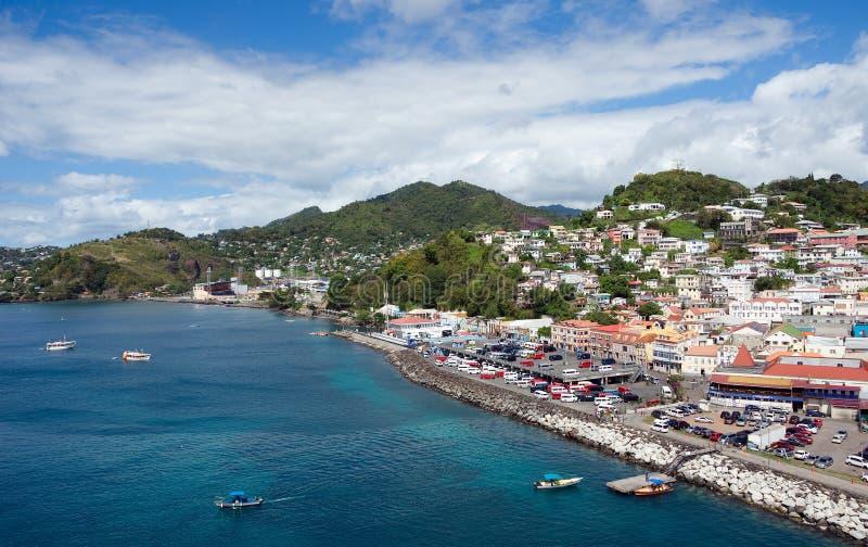 Świętego George ` s miasteczko - Grenada obraz royalty free