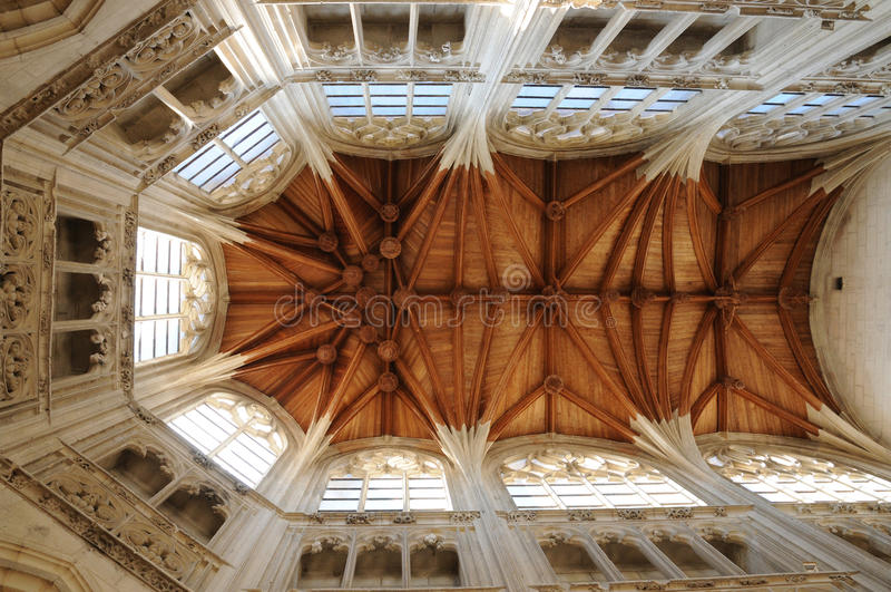 Świętego Gervais kościół Falaise w Normandie fotografia stock