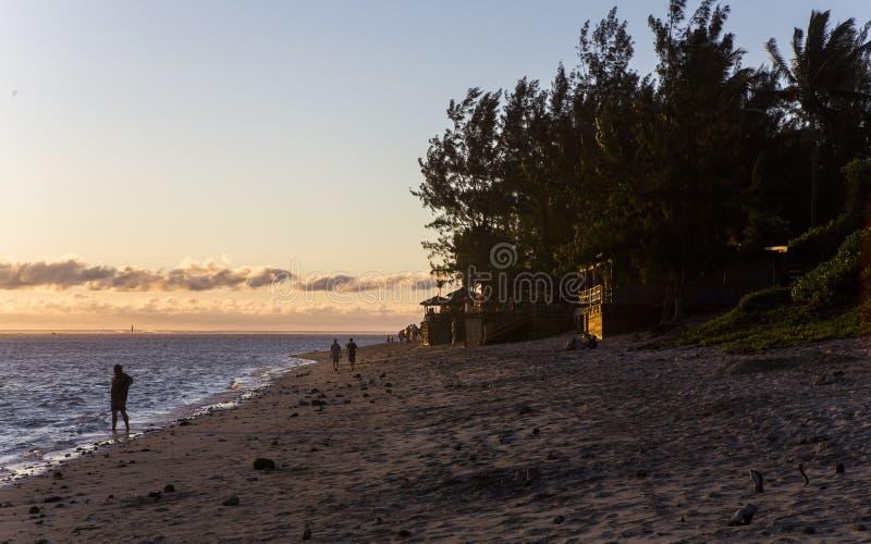 Świętego Gilles plaża, losu angeles spotkania wyspa, France fotografia royalty free