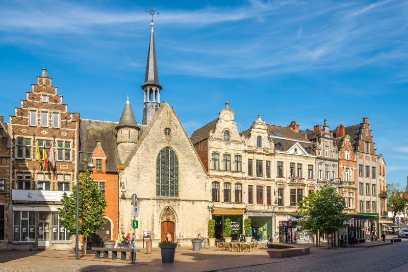 Świętego Jacob kaplica w ulicach Lier, Belgia - zdjęcia royalty free