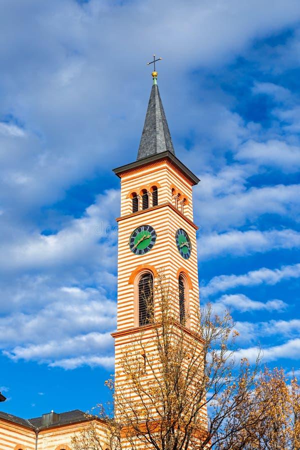 Świętego Jakob kościół w Friedberg fotografia royalty free