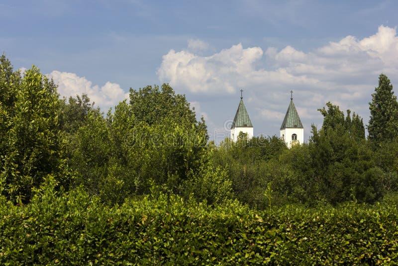 Świętego James dzwonnicy w Medjugorje fotografia royalty free