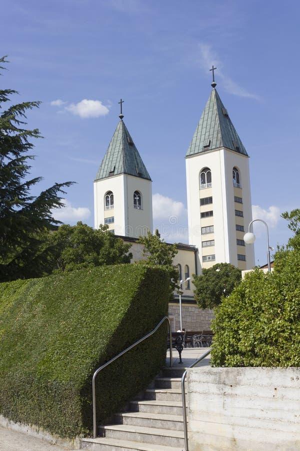 Świętego James dzwonnicy w Medjugorje zdjęcia royalty free