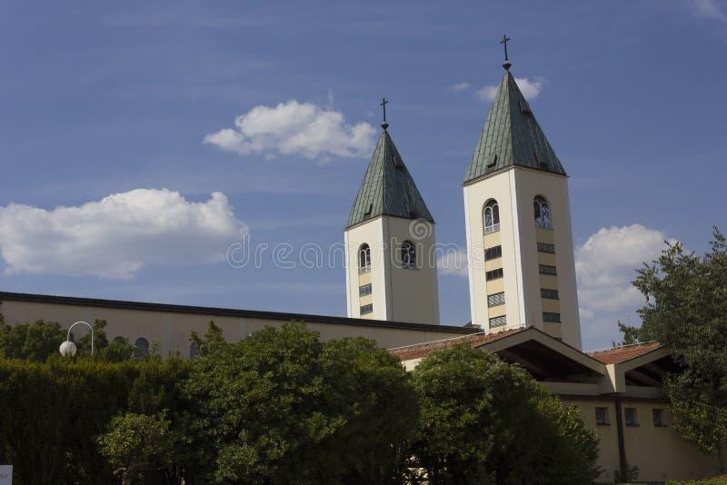 Świętego James dzwonnicy w Medjugorje obraz royalty free