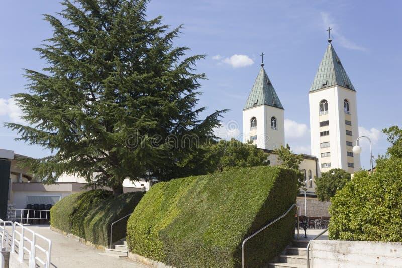 Świętego James dzwonnicy w Medjugorje ja obrazy royalty free