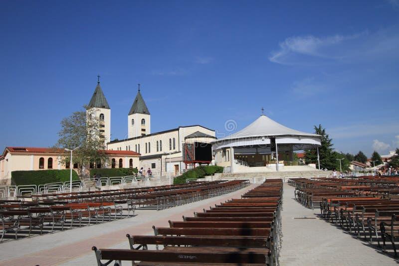 Świętego James kościół Medjugorje w Herzegovina fotografia stock