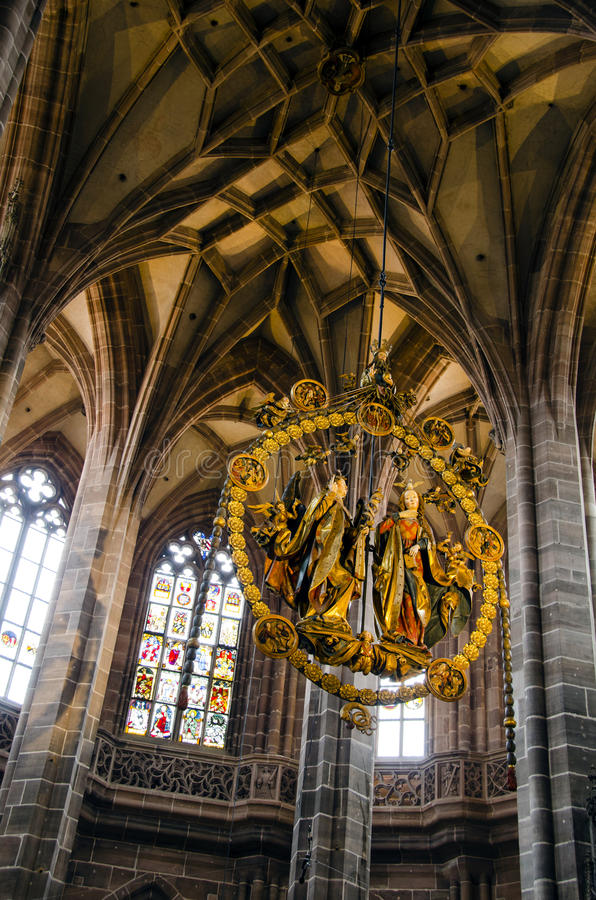 Świętego Lorenz kościół wnętrze zdjęcia royalty free