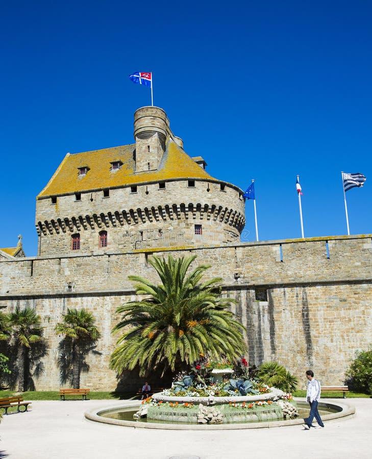 Świętego Malo miasta ściana zdjęcie royalty free