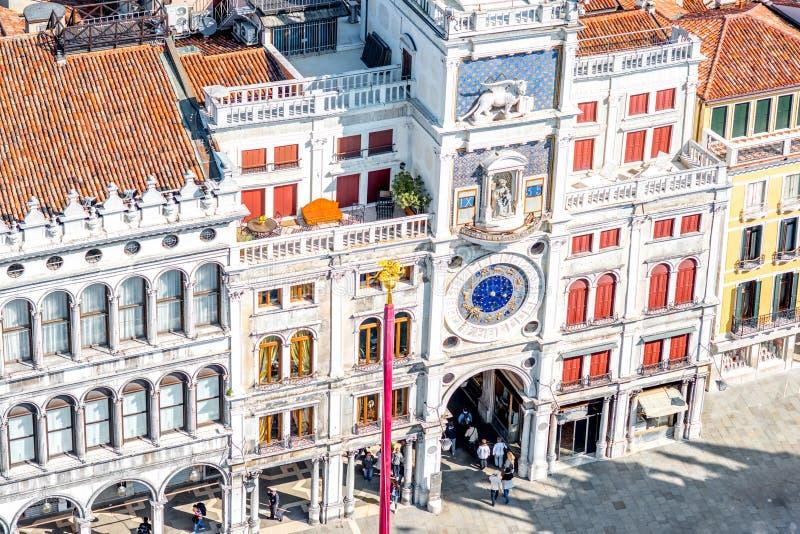 Świętego Mark Clocktower w Wenecja fotografia royalty free