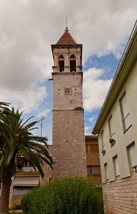 Świętego Michael dzwonkowy wierza trogir croatia fotografia royalty free