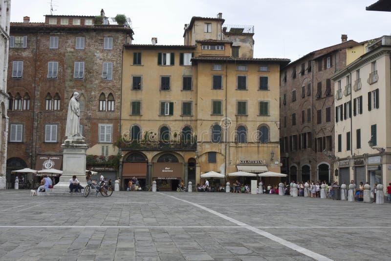 Świętego Michael kwadrat w Lucca, Włochy fotografia royalty free