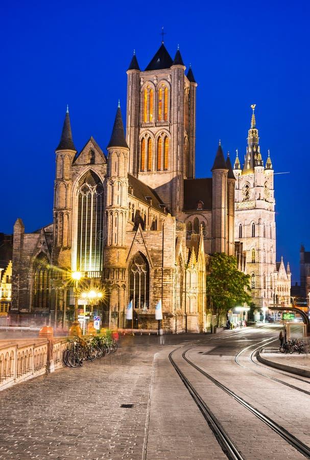Świętego Nicholas kościół, Ghent zdjęcie royalty free