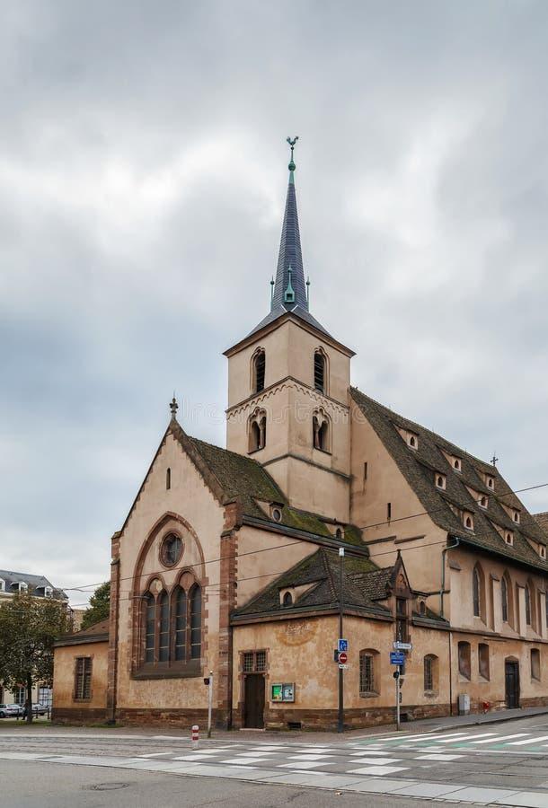 Świętego Nicholas kościół, Strasburg fotografia stock