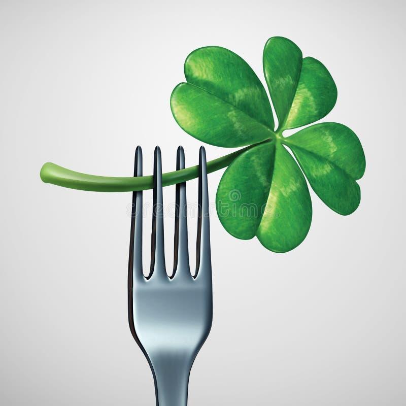 Świętego Patrick dnia jedzenie royalty ilustracja