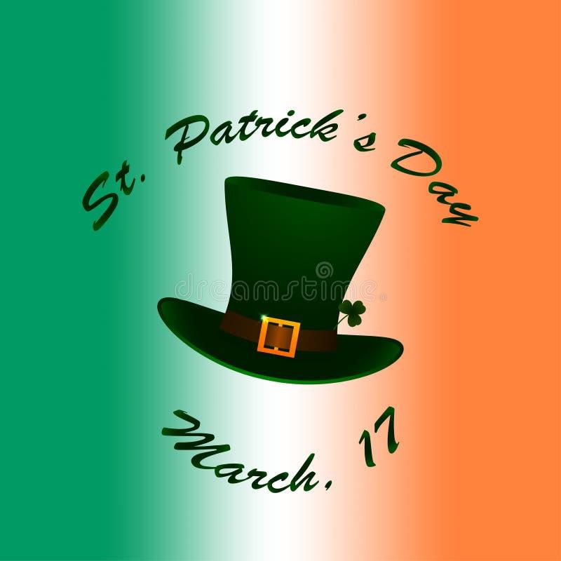 Świętego Patrick kapelusz na irlandczyk flaga zamazywał tło ilustracji