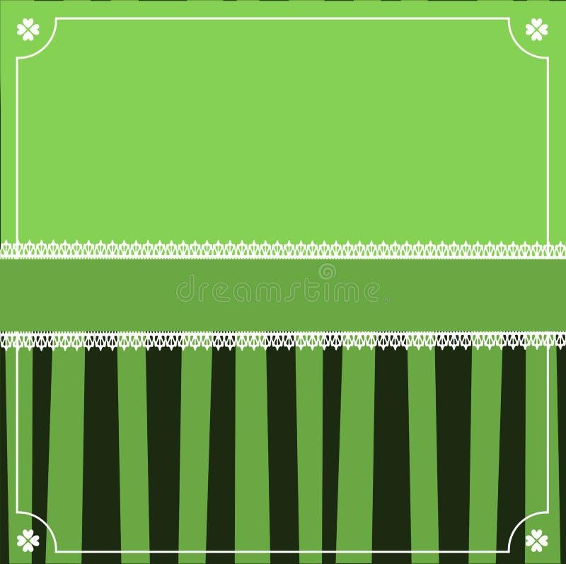 Świętego Patrick ` s dnia elegancki szablon z koniczynową świąteczną koronką royalty ilustracja