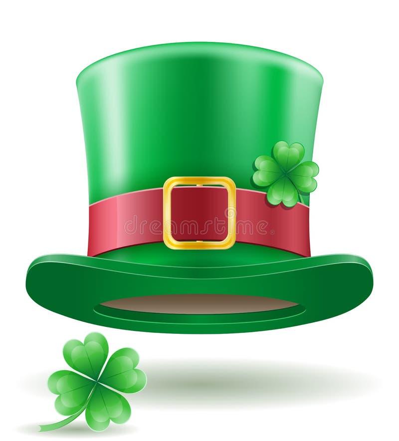 Świętego Patrick ` s dnia leprechaun kapeluszu zapasu wektoru ilustracja ilustracji