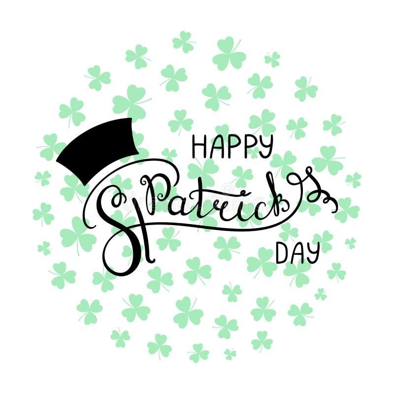 Świętego Patrick ` s dnia literowanie ilustracji