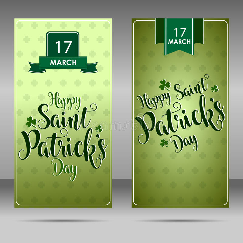 Świętego Patrick ` s dnia rocznika literowania tła sztuka ilustracji