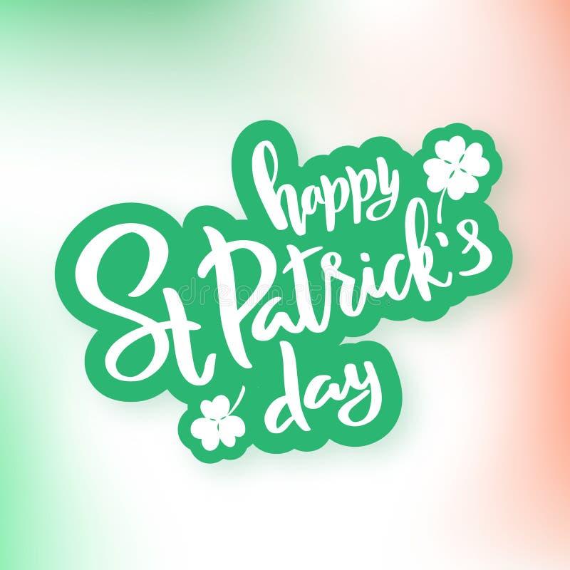 Świętego Patrick ` s dnia typografii literowania plakat royalty ilustracja