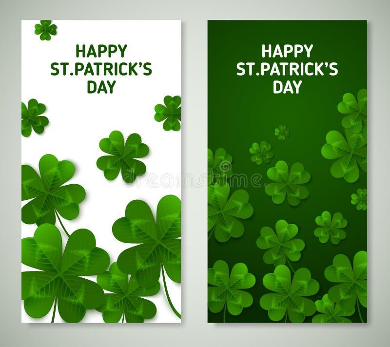 Świętego Patrick ` s dnia Vertical sztandary royalty ilustracja