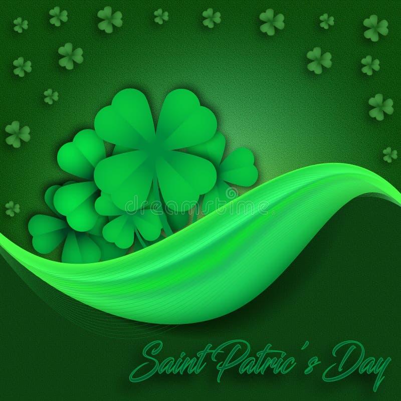 Świętego Patrick ` s dnia zieleni tło ilustracja wektor