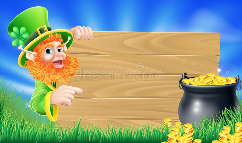Świętego Patricks dnia leprechaun scena ilustracja wektor
