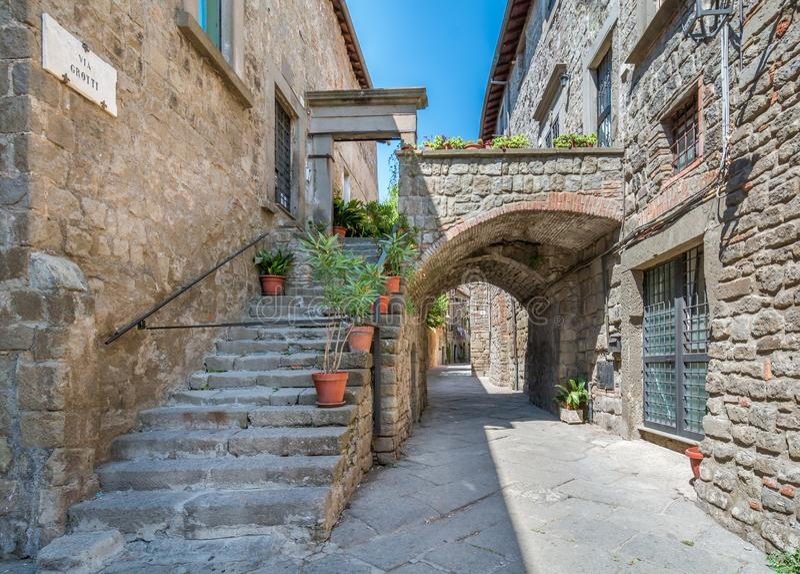 Świętego Pellegrino okręg w Viterbo, Lazio Włochy fotografia royalty free