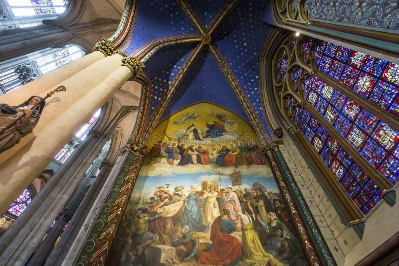 Świętego Peter Beauvais katedra w Beauvais, Francja obrazy stock