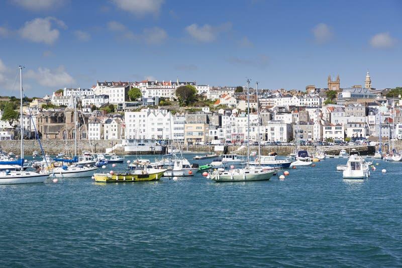Świętego Peter port, Guernsey fotografia stock